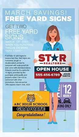 Free Yard Signs - Large Format Printing